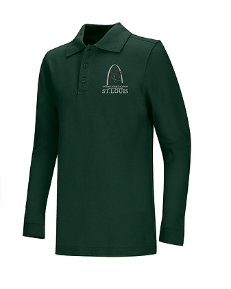 Long Sleeve-Forest Green Polo..