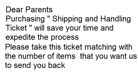 Shipping & Handling Ticket
