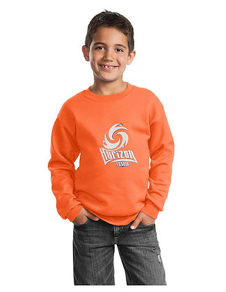 CREW NECK SWEATSHIRT-ORANGE-B. White  Spirit