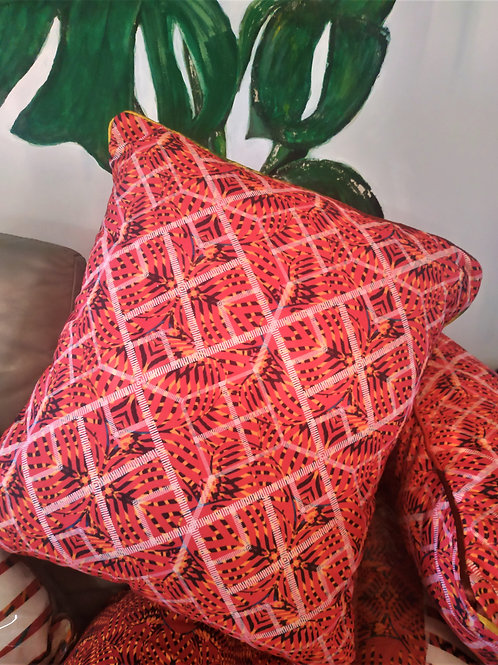 Wyderush Legacy Collection - Lynnett Printed Patchwork Print Cushion