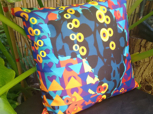 Playful Shapes- Afro-Floral Cushion
