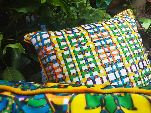 Wyderush Legacy Prints  -Agatha Check Print Cushion