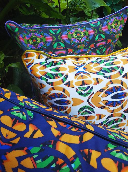 Wyderush Legacy Prints   -Enid Abstract Leaf Print Cushion