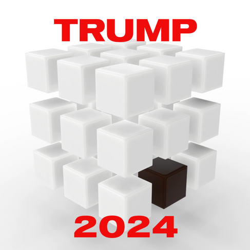 Donald Trump re-engineered Rubik's Cube.   The puzzle is now a simple to solve racist roadmap to MAGA.