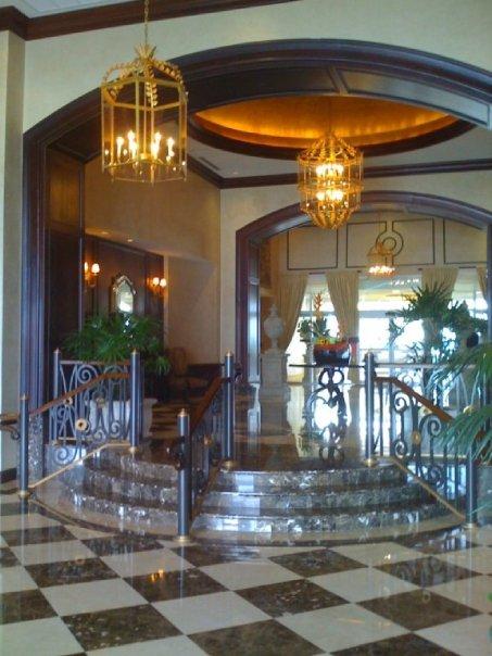 Hotel Lobby Marble Installation