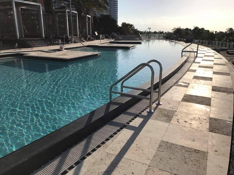 Pool Deck Stone installation