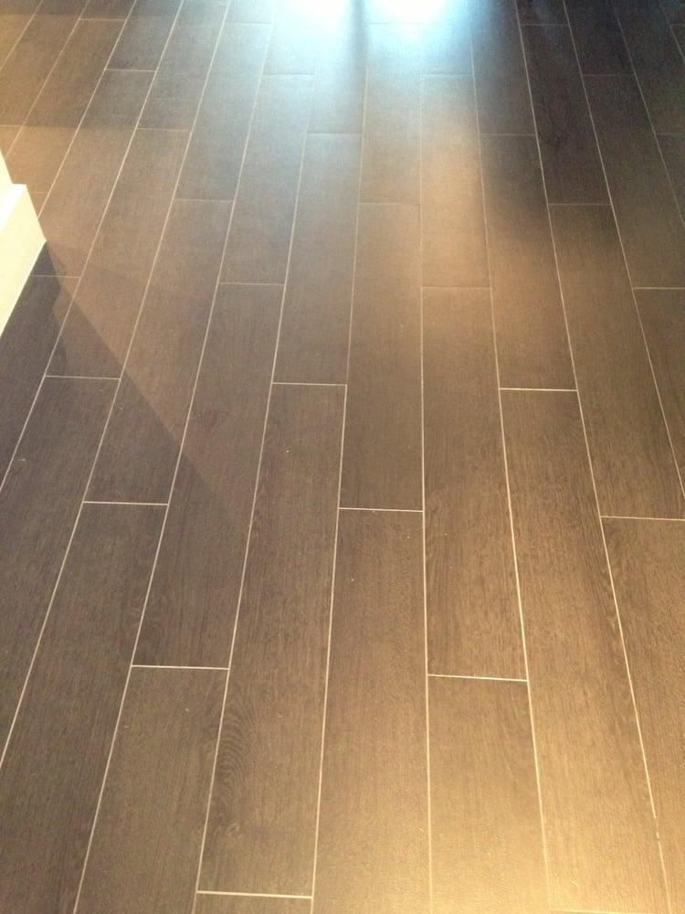 Porcelain Plank Tile installation