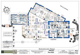 Plan d'aménagement RDC
