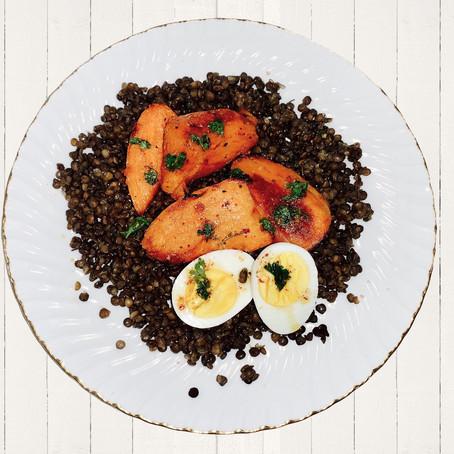 Карантинная Кулинария: Чечевица С Жареным Сладким Картофелем И Специями