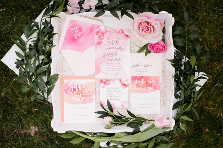Cherry Blossom Wedding Inspiration - A Styled Shoot