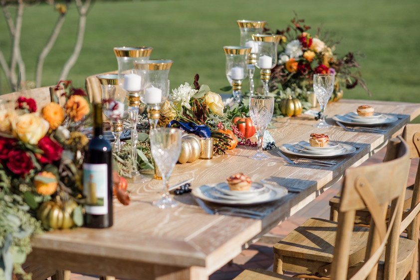 Rustic Glam Fall Wedding Inspiration - A Styled Shoot