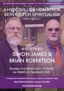 WMDC Hydesville & Healathon Service with Simon James & Brian Robertson (21/03/21)