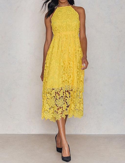 Crochet Strap Back Dress by Nakd