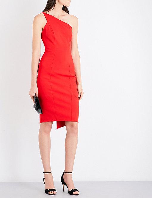 One-Shoulder Crepe Dress by Karen Millen