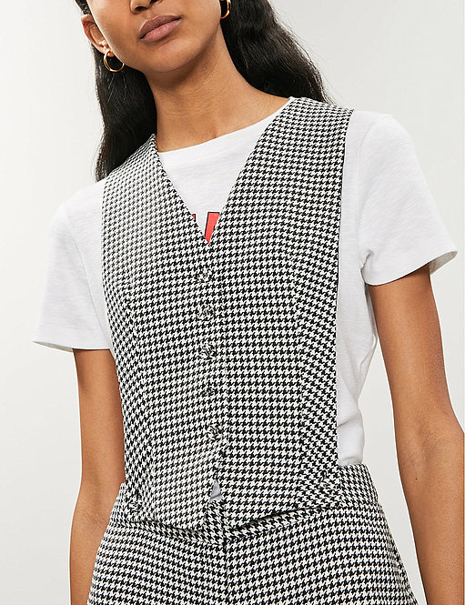 Waistcoat-Style Front Jumpsuit by Topshop