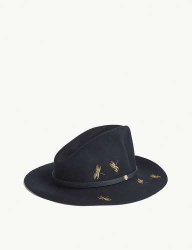 1882d7445f6f5 Dragonfly Embellished Fedora by Ted Baker