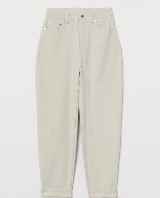 Loose fit trousers with high waist