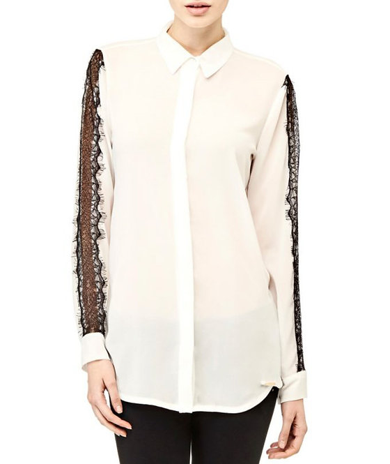 Shirt with Lace Sleeves by Guess
