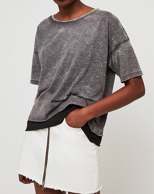 Cotton and Linen T-shirt by AllSaints