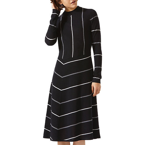 Diagonal Cut Stripe Dress by Jigsaw