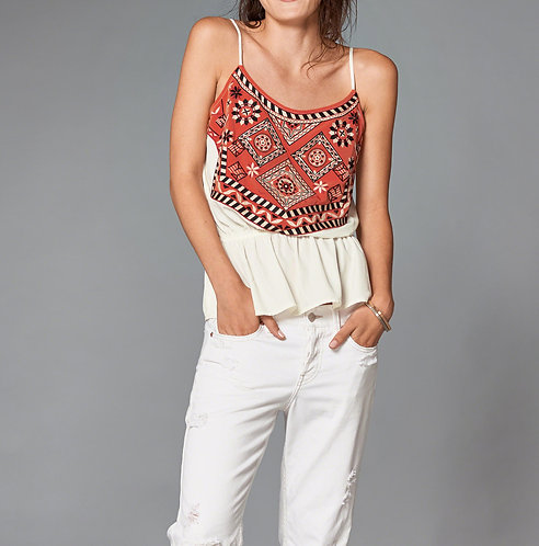 Embroidered Peplum Cami by Abercrombie & Fitch