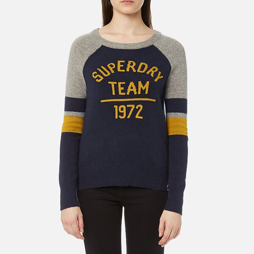 Logo Knitted Jumper by Superdry