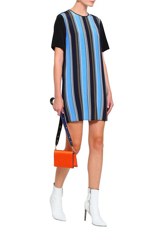 Striped Silk Crepe Mini Dress by Diane von Furstenberg