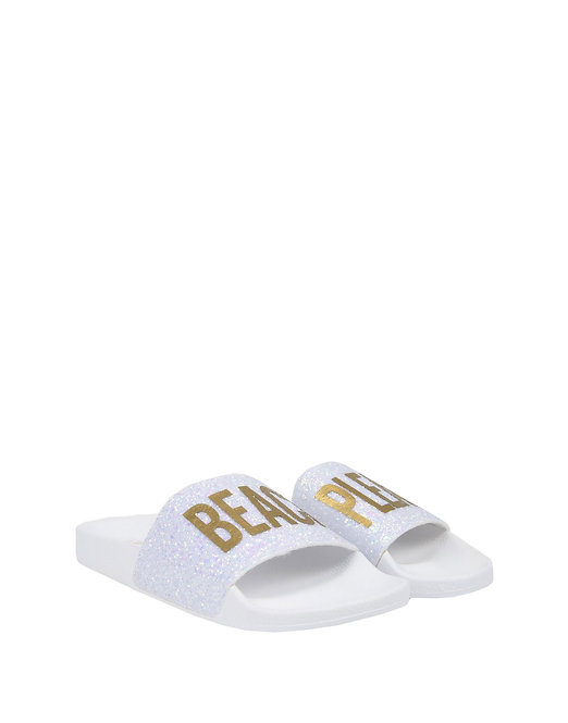 Glitter Beach Please Slippers by THE WHITE BRAND®