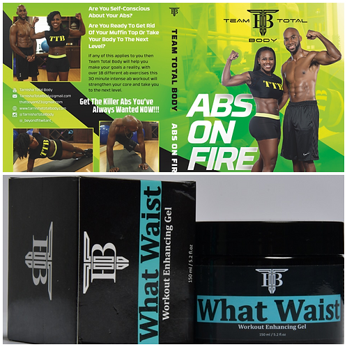 Bundle Deal - Abs On Fire DVD & What Waist Gel