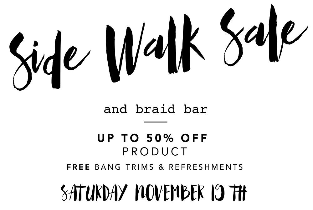 Jessica Rose Salon Side Walk Sale