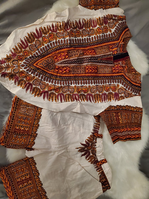 Girl's Kids African Prints Sets/S/M