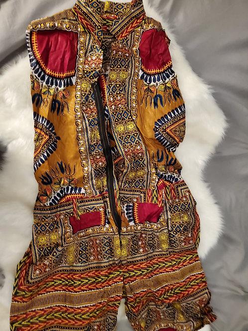 Adult African Print Jumpsuits/Long/Short. S/M