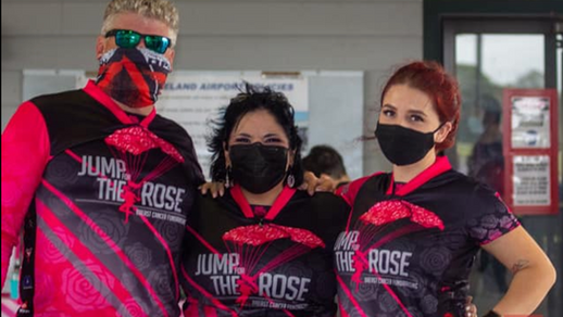 Adam, Camille and Sarah at the 2020 Jump for the Rose Boogie