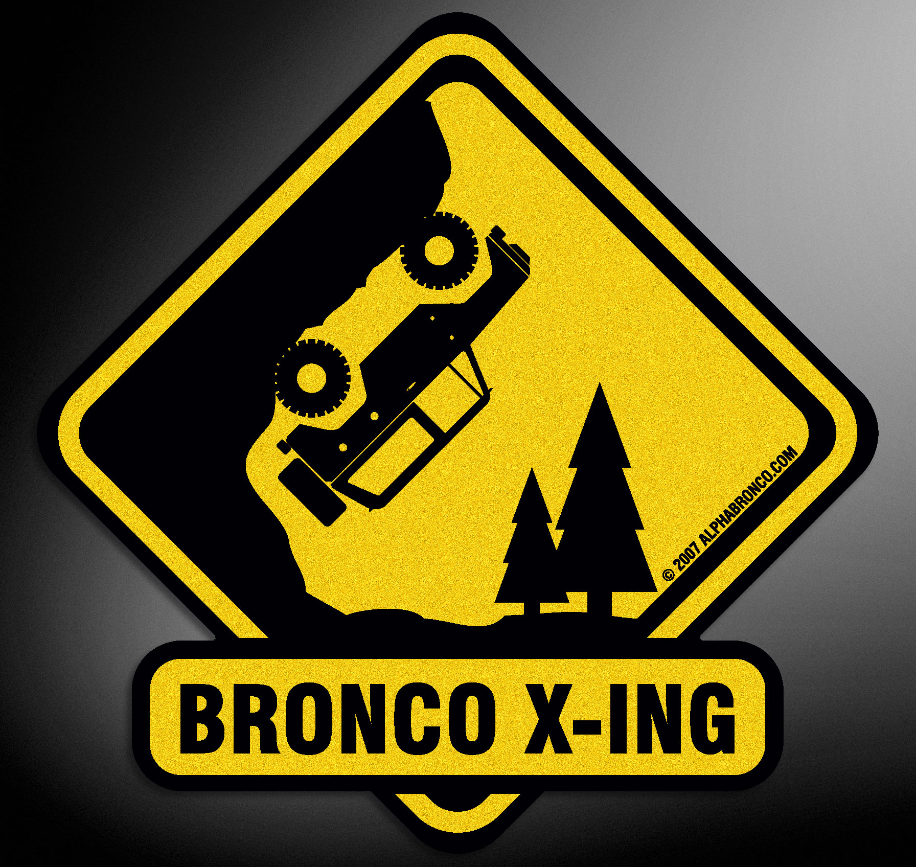 Alpha Bronco X-ING decal