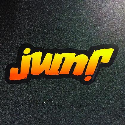 JUMP ambigram decal