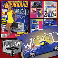 Outlaw Kustoms C-10 pictoral in LOWRIDING magazine