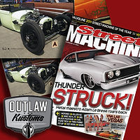 "Outlaw Kustoms ""Leftovers"" makes the pages of Street Machine."