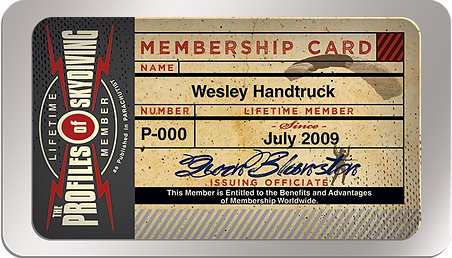 Profiles of Skydiving Membership Card