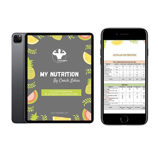My Nutrition - Ton plan alimentaire personnalisé
