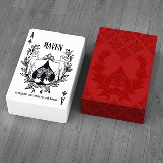 Maven Playing Cards Red Tuck