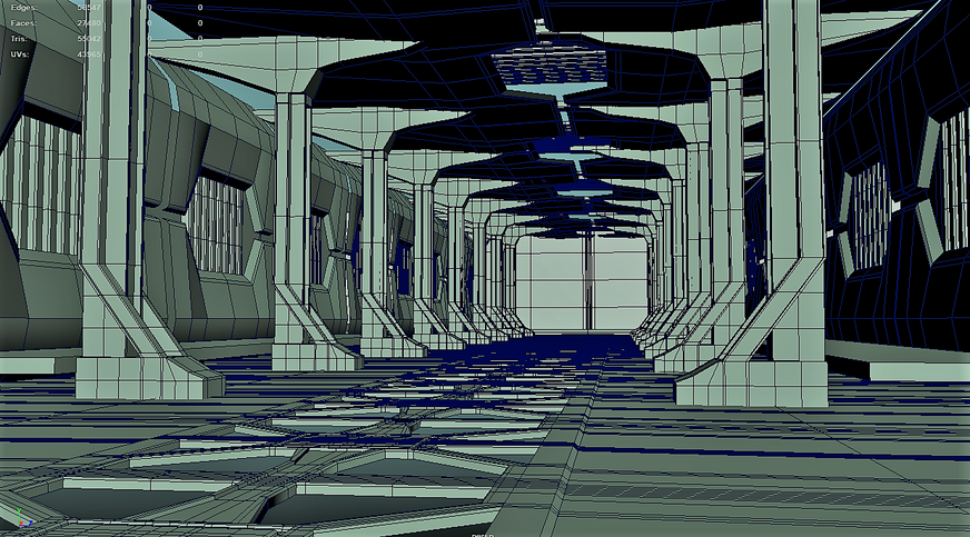 Current Project Wireframe Hangar Sci_fi.