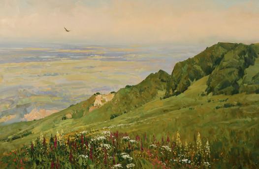 Вид с горы Стрижамент.80х120..JPG