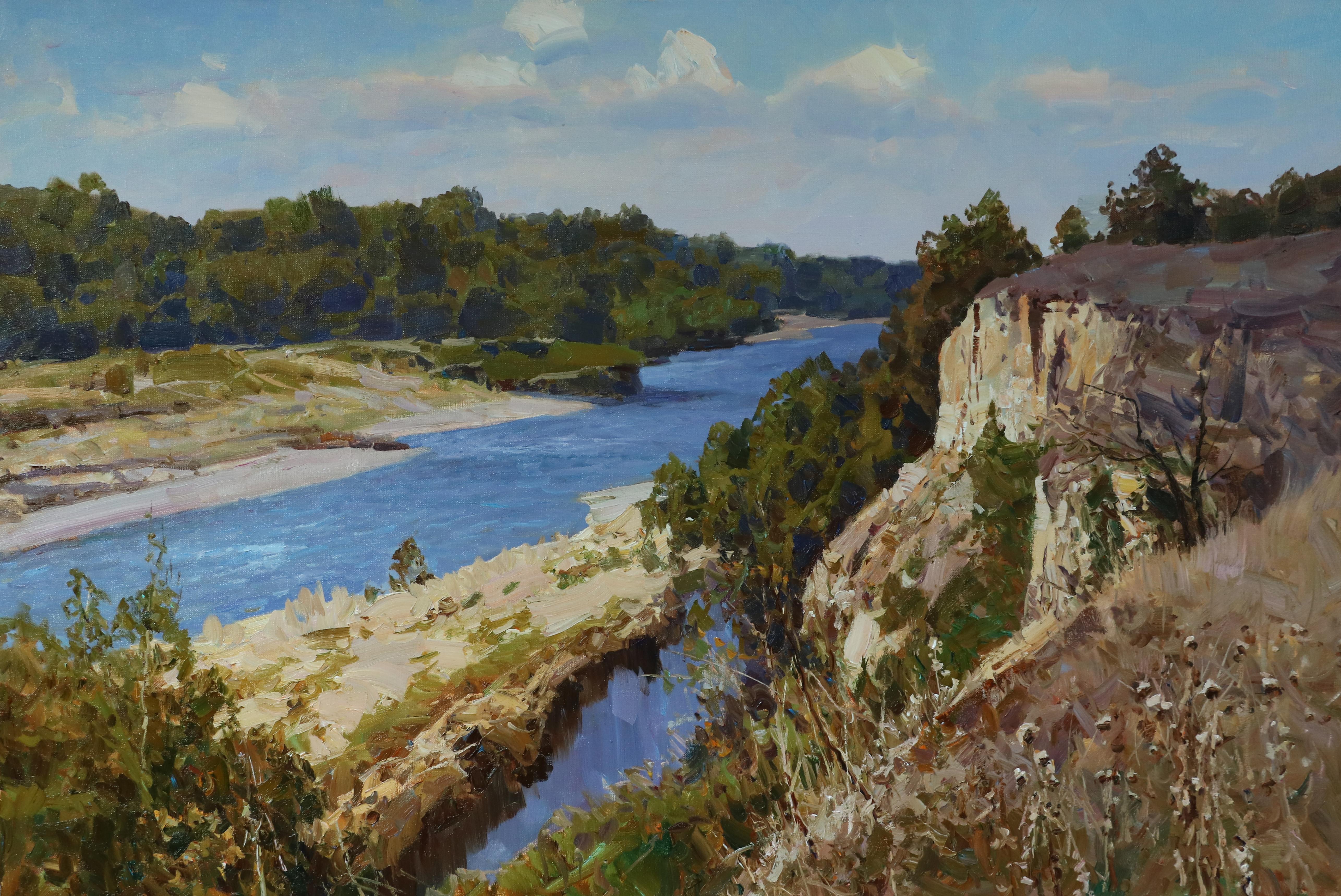 Синева реки 80х120