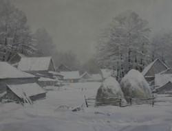 Снег идет.70х90
