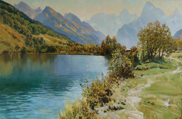 Полдень. Форелевое озеро 80х120 см $1800