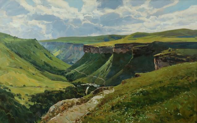Вид на ущелье летом 78х125 см $1800