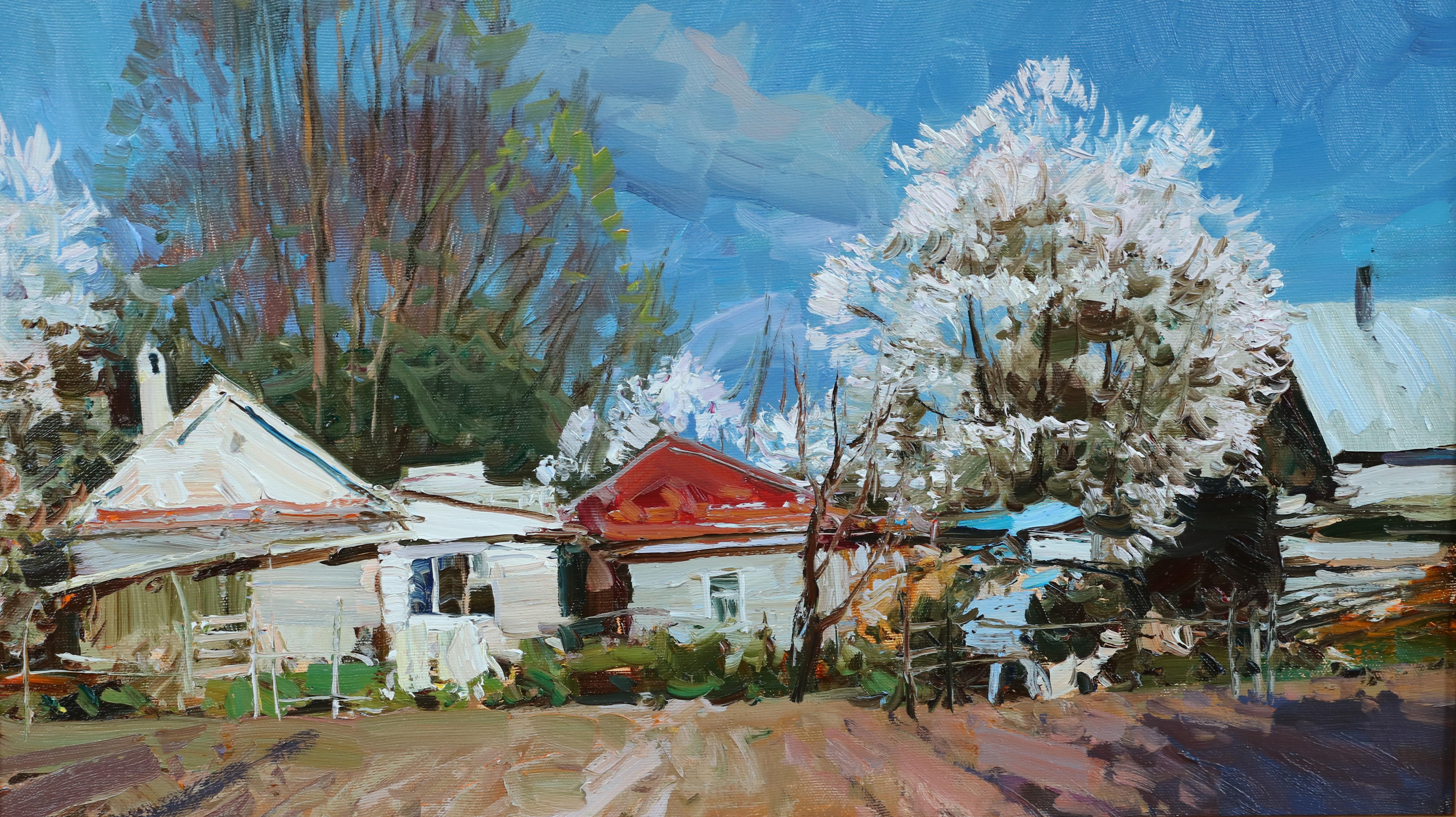 Весна в моей деревне.35х60