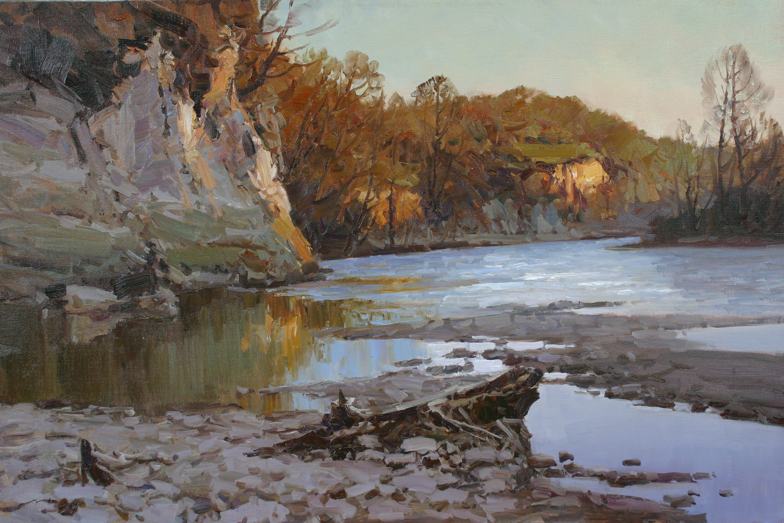Spring, the river Zelenchuk 60/80 см