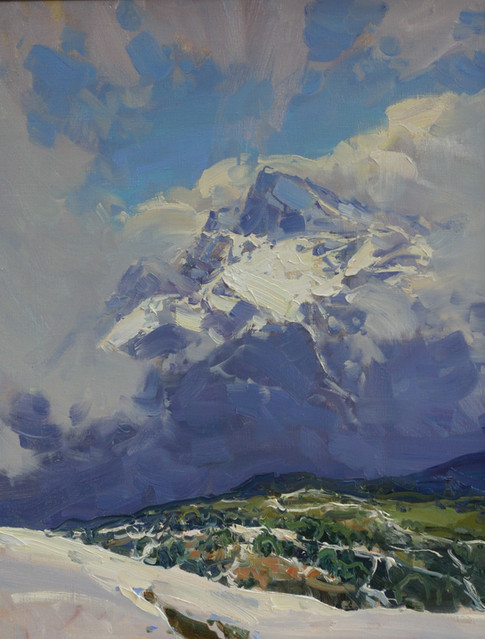 Peaks in the clouds. View from Rose Peak.