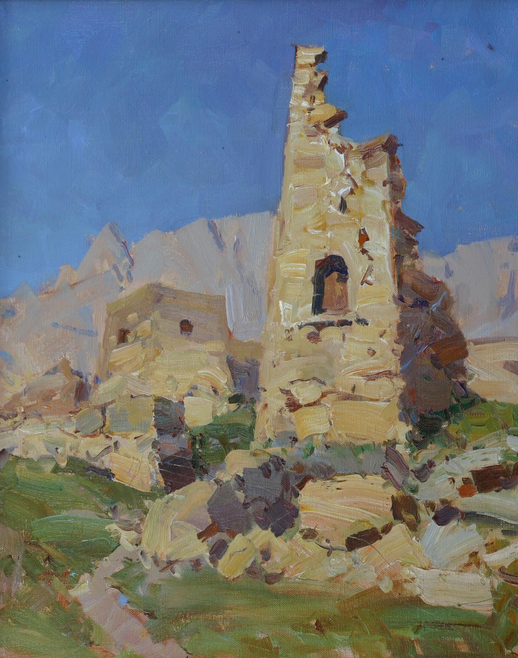 Древняя башня.50х40